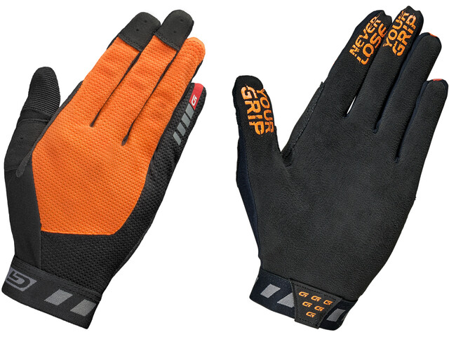 GripGrab Vertical InsideGrip Full Finger Gloves Fluo Orange